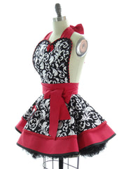Red Parisian Apron