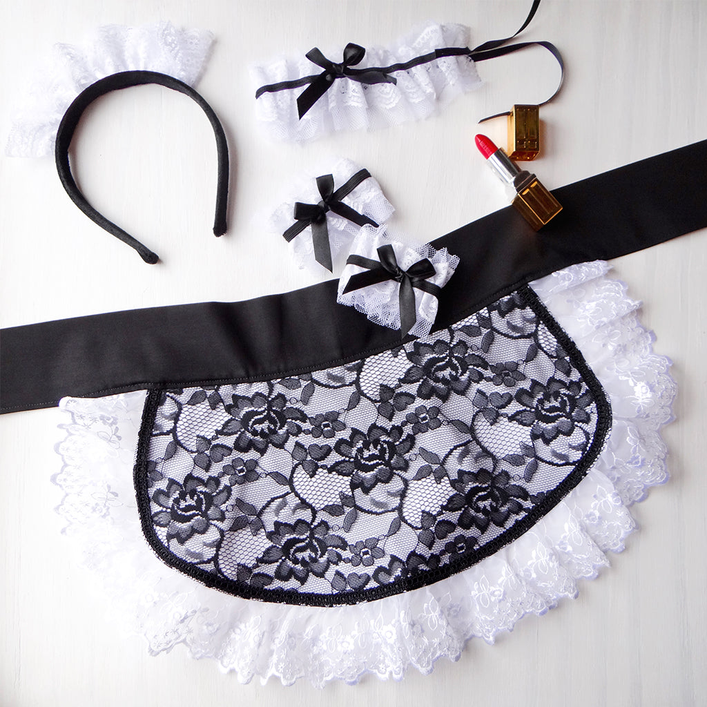 Women's Sexy Little Lacy French Maid Half Apron