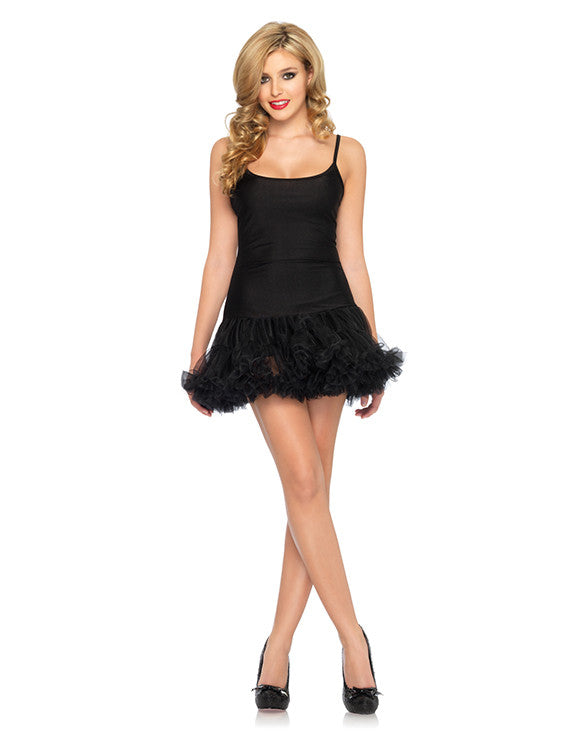 For Under Your Bambino Amore Apron, a Black Petticoat Dress By Leg Avenue