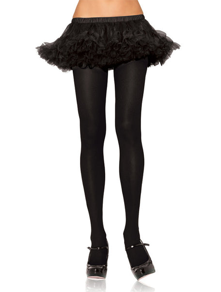 Accessorize Your Bambino Amore Apron with Nylon Black Lycra Opaque Tights by Leg Avenue