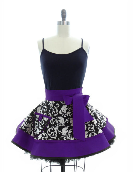 Royal Purple Parisian Half Apron