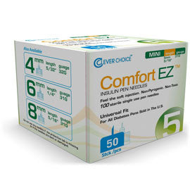 Comfort EZ Clever Choice Pen Needles - 31G X 5mm - BX 50