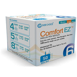 Comfort EZ Clever Choice Pen Needles - 31G X 6mm - BX 50