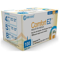 Comfort EZ Clever Choice Pen Needles - 32G X 6mm - BX 100