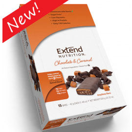 Extend Nutrition Anytime Bar - Chocolate & Caramel - 15 Pack