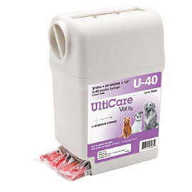 "UltiGuard UltiCare U-40 VetRx Veterinary Insulin Syringes 29g 3/10cc 1/2"" - 100/bx"