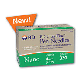 BD Ultra Fine Pen Needles - 32 G 4 mm - BX 90