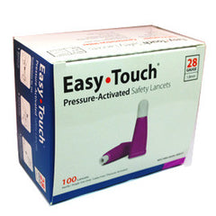 EasyTouch Pressure Activated  Safety Lancets - 28G