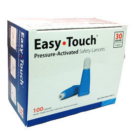 EasyTouch Pressure Activated  Safety Lancets - 30G