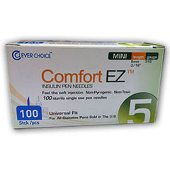 "Comfort EZ Pen Needles Mini - 31G 5mm 3/16"" - BX 100"