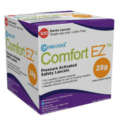 Clever Choice Comfort EZ 28G 100 Safety Lancets 1.8mm depth setting