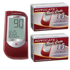 Advocate Redi-Code Talking Glucose Meter Kit Combo (Meter Kit and Test Strips 100ct)