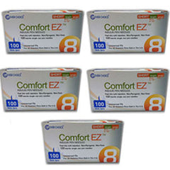 "Comfort EZ Pen Needles Short - 31G 8mm 5/16"" - BX 100 - Case of 5"