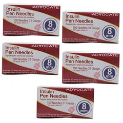 "Advocate Short Pen Needle - 31G 8mm 5/16"" - BX 100 - Case of 5"