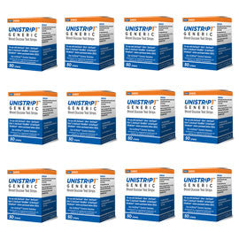 UniStrip Glucose Test Strips - 50ct - Compatible with ALL OneTouch Ultra Meters - 12/bx