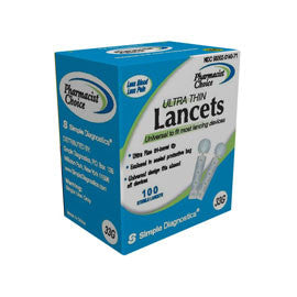 Pharmacist Choice Twist Top 33G Lancets 100s
