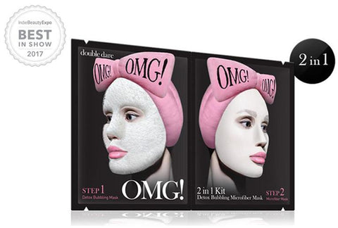 OMG! 2IN1 KIT DETOX BUBBLING MICROFIBER MASK