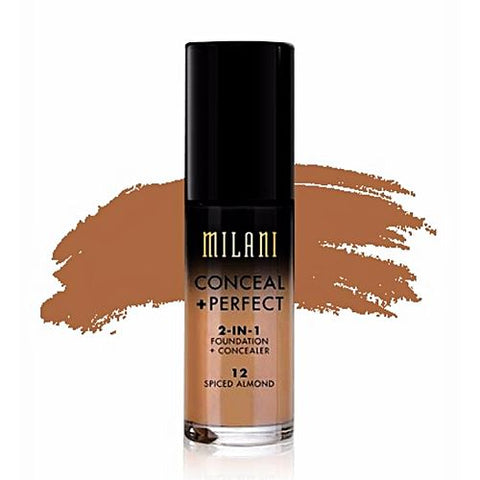 Milani Conceal+Perfect 2-in-1 Foundation+Concealer 12 Spiced Almond