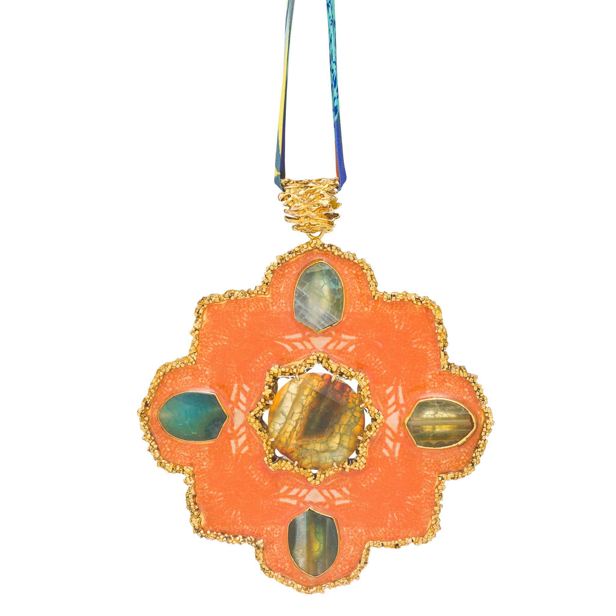 Orange Medallion necklace