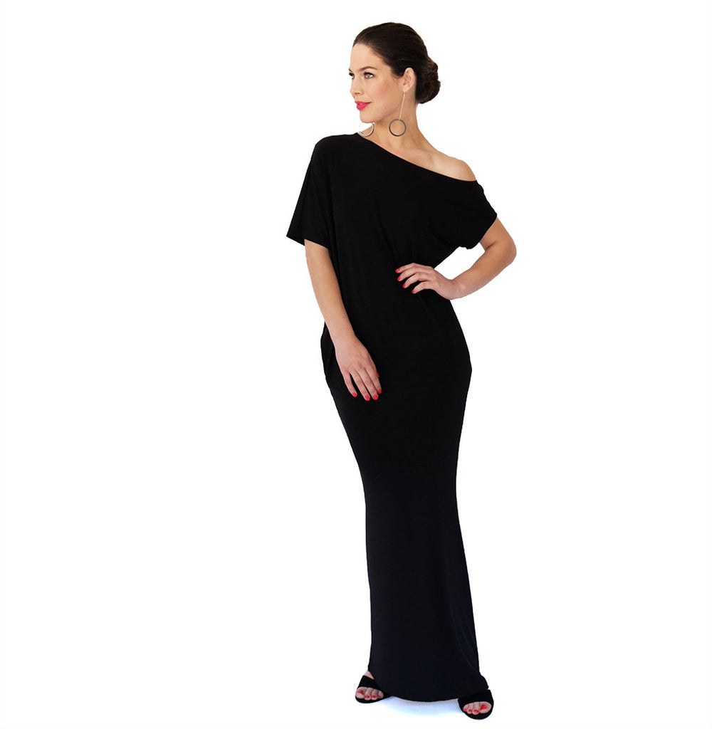 Drape Dress | Black
