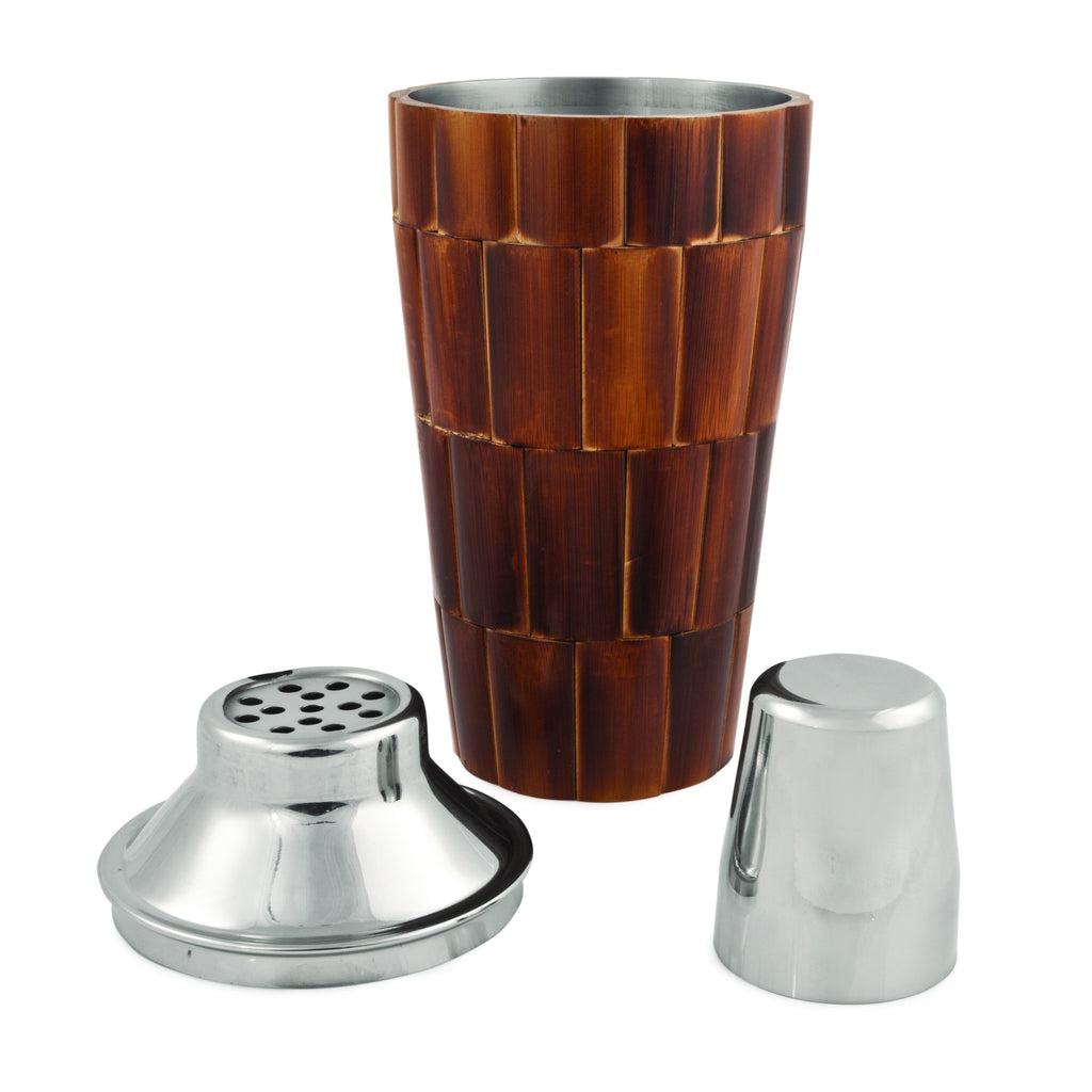 Bamboo Tiled Cocktail Shaker Pieces
