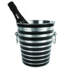 Striped Ice Bucket with bottle