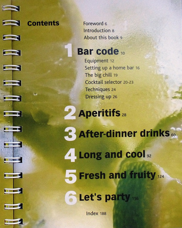 Cocktails - Essential Bar Book - Contents