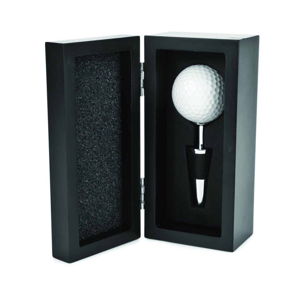 Golf Ball Wine Stopper With Case