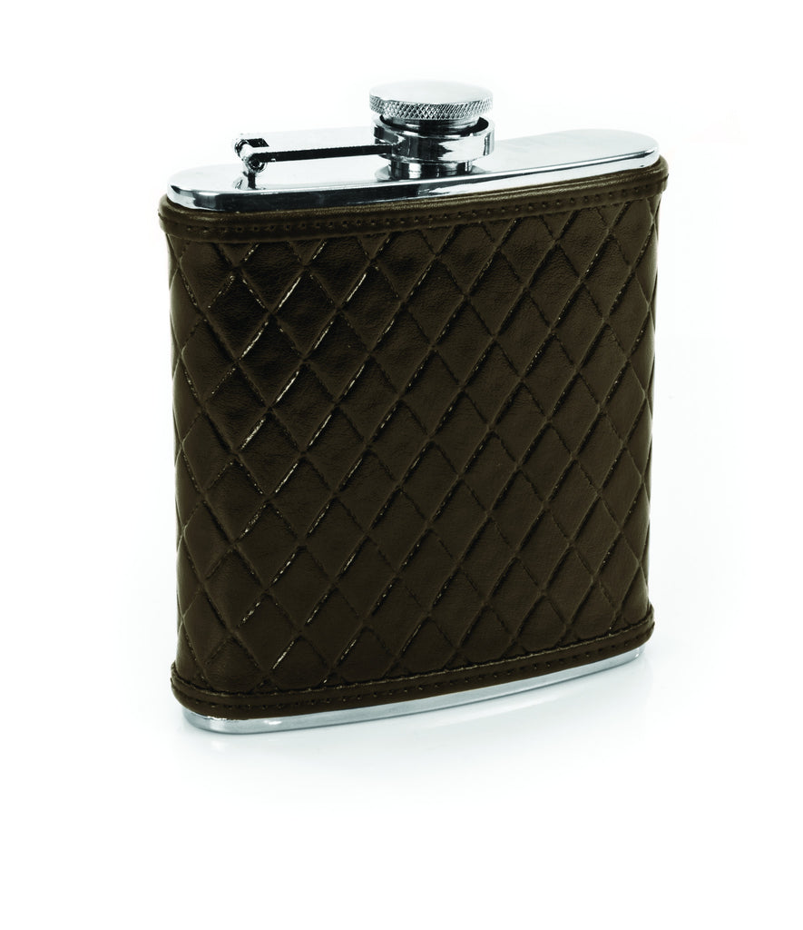 Knightsbridge Leather Flask