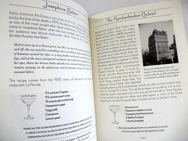 Dorothy Parker Cocktail Guide - Sample Recipe 1