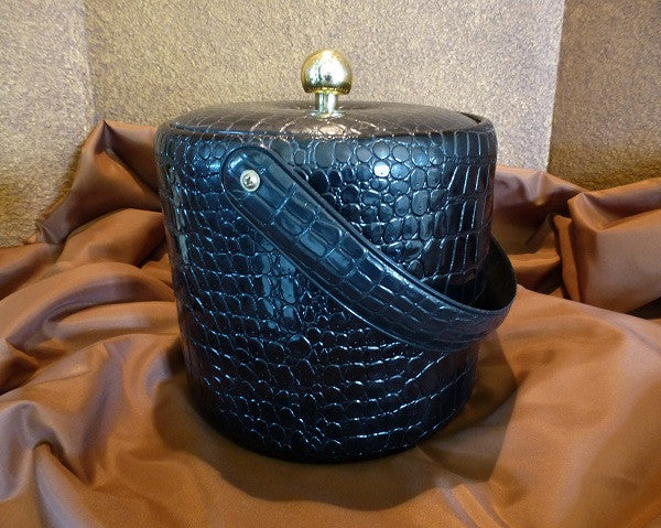 Georges Briard Black Vinyl Ice Bucket