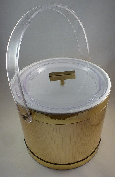 Georges Briard faceted gold vinyl ice bucket
