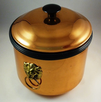 Copper and Brass Ice Bucket Side View