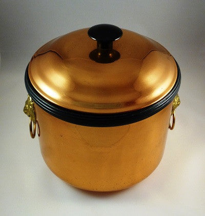 Coppercraft Copper Brass Ice Bucket with Lion Head Handles