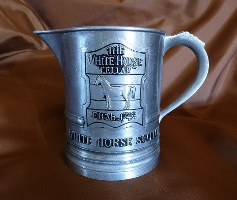 White Horse Metal Jug