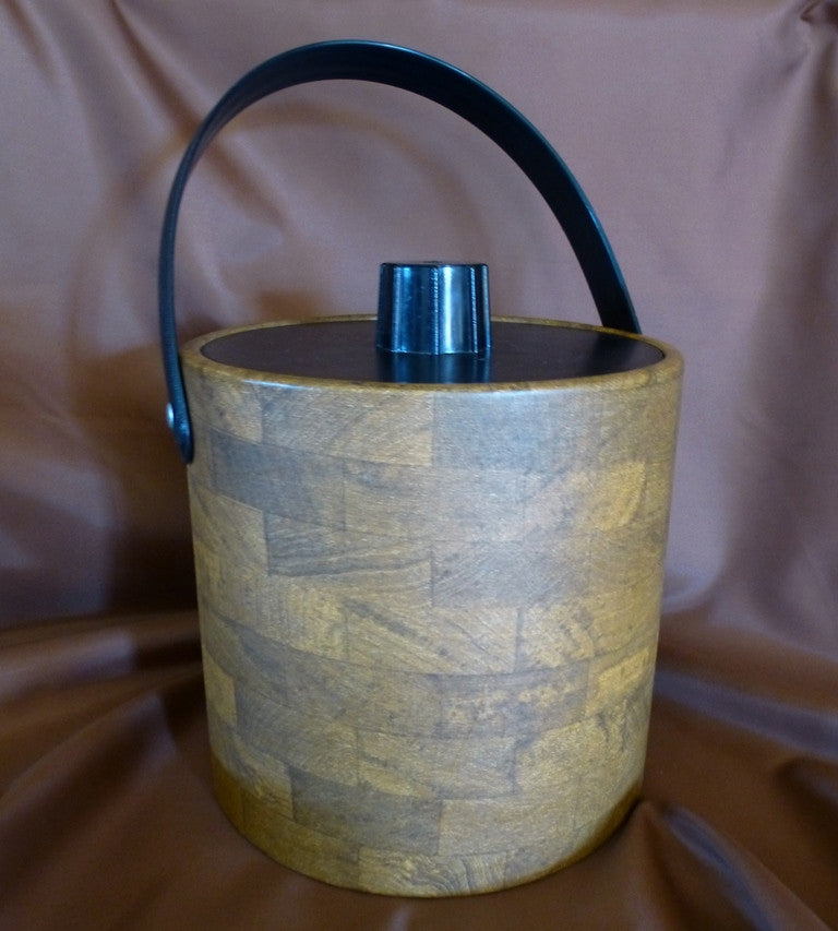 Vintage Irvinware Faux Wood Ice Bucket
