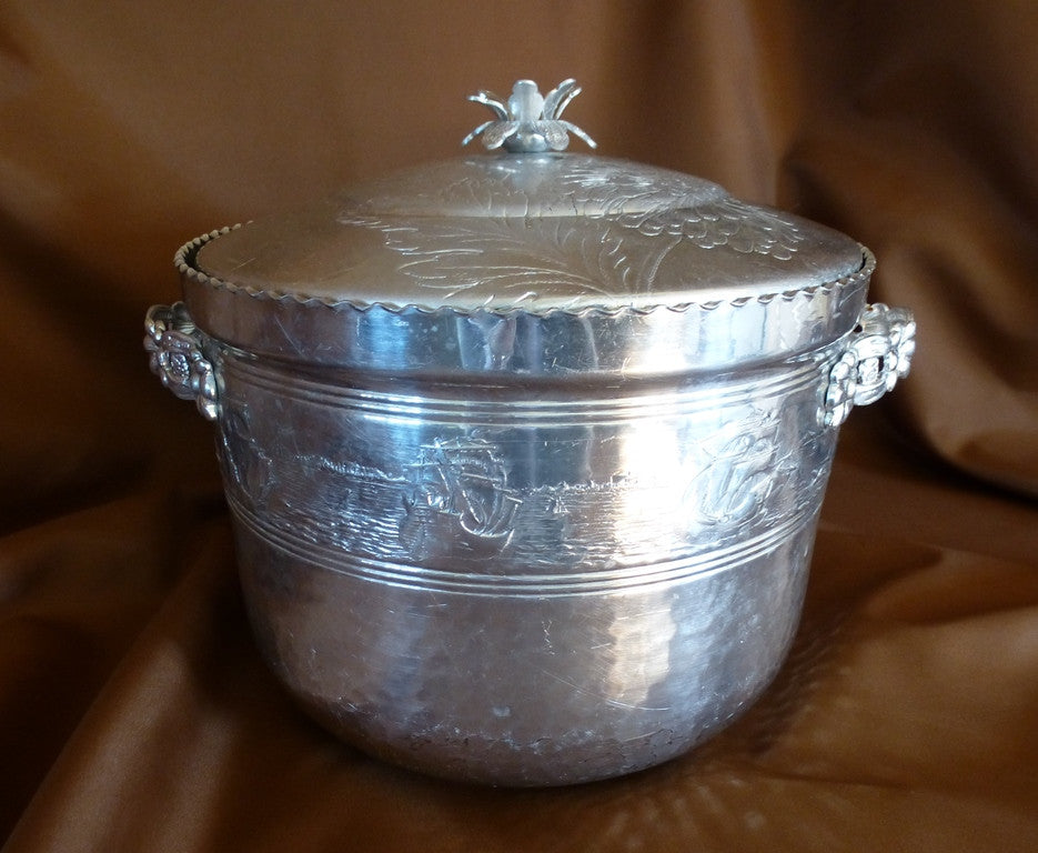 ... Hammered aluminum ice bucket