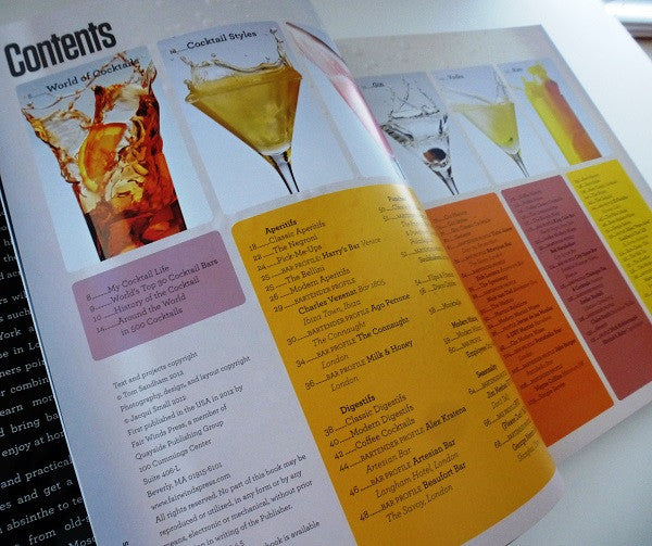 Worlds Best Cocktails - Contents