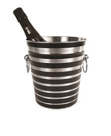 Black stripes make this ice/wine bucket extra cool. ON SALE - Save now!
