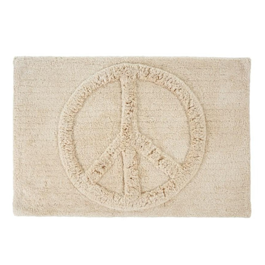 Peace Sign Bathmat