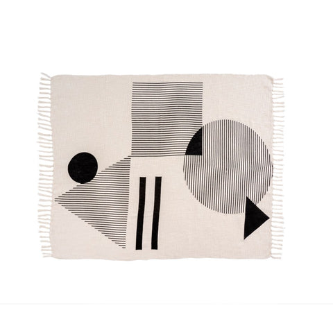 Masey Geo Block Throw Blanket