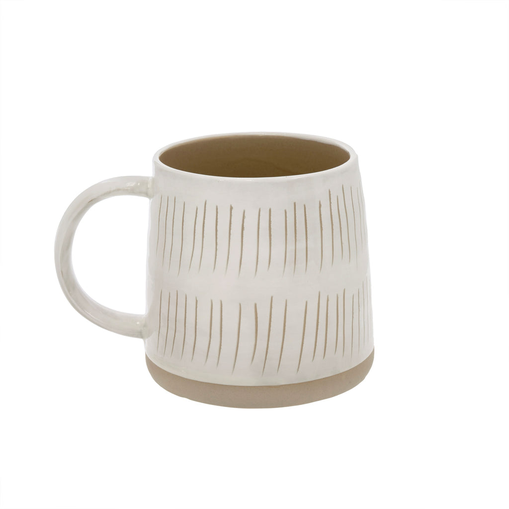 Dashes Sandstone Mug