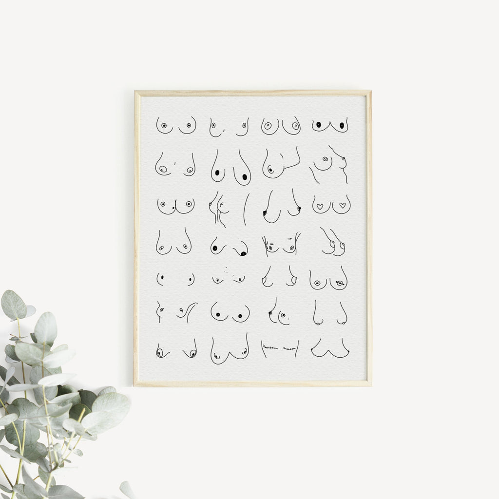 """THE BOOBS"" Greta Jane Print"