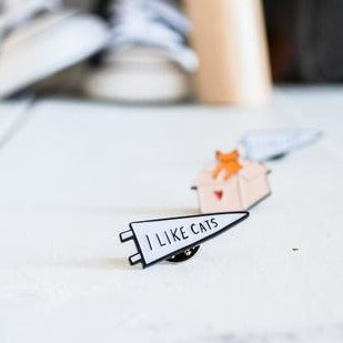I Like Cats Enamel Pin