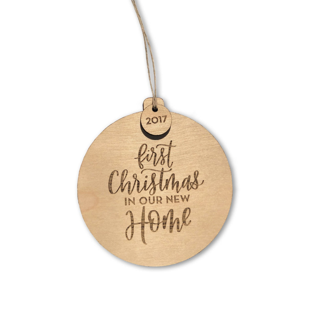 """First Christmas In Our New Home"" Wooden Ornament (2020)"
