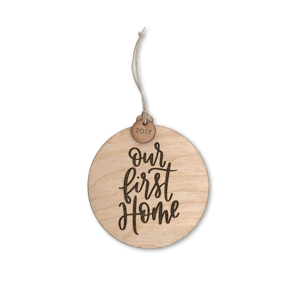 """Our First Home"" Wooden Ornament (2020)"