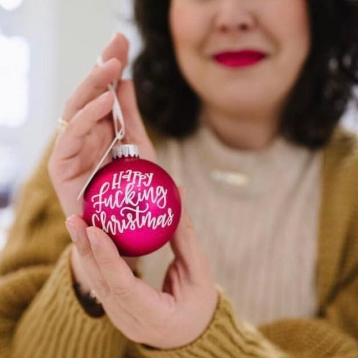 Hand Painted Glass Ball Ornament - PICK UP ONLY
