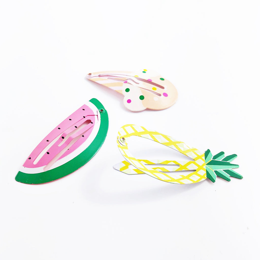 """Snack Break"" Kids Barrettes (set)"