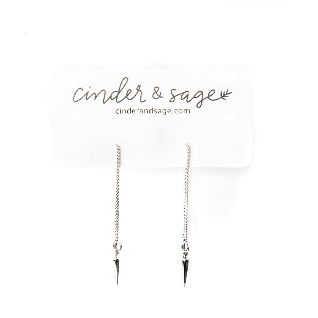 """Spiked"" Threader Earrings"
