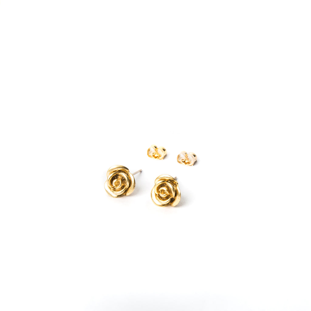 """Sweet Rose"" Stud Earrings"